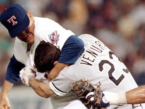 Nolan Ryan beating the shit out of Robin Ventura